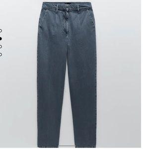Zara/ STRAIGHT LEG TAILORED DEMIN PANTS